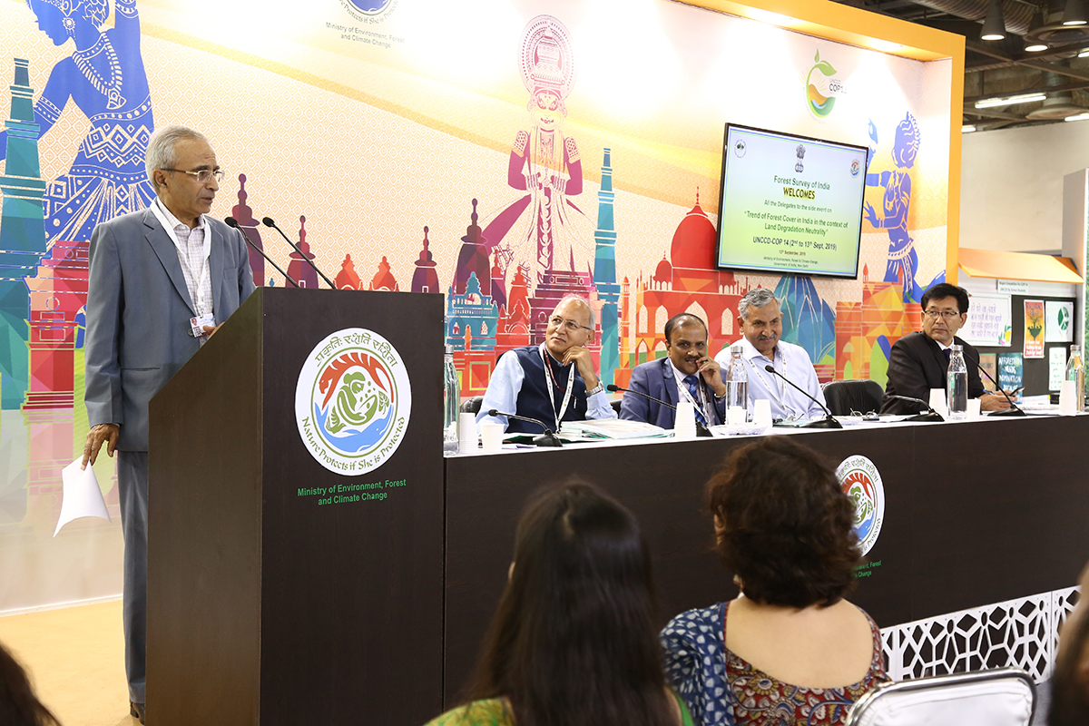 'Trend of Forest Cover in India in the context of Land Degradation Neutrality': Event during 14th COP of United Nations Convention to Combat Desertification (UNCCD)
