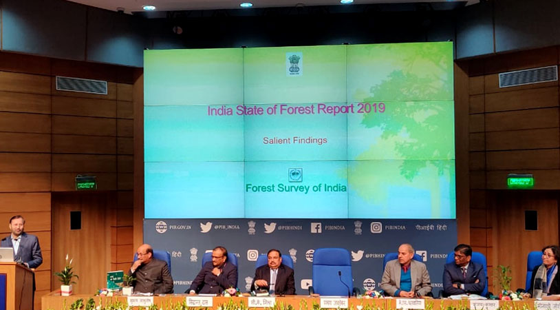 Release of India State of Forest Report 2019